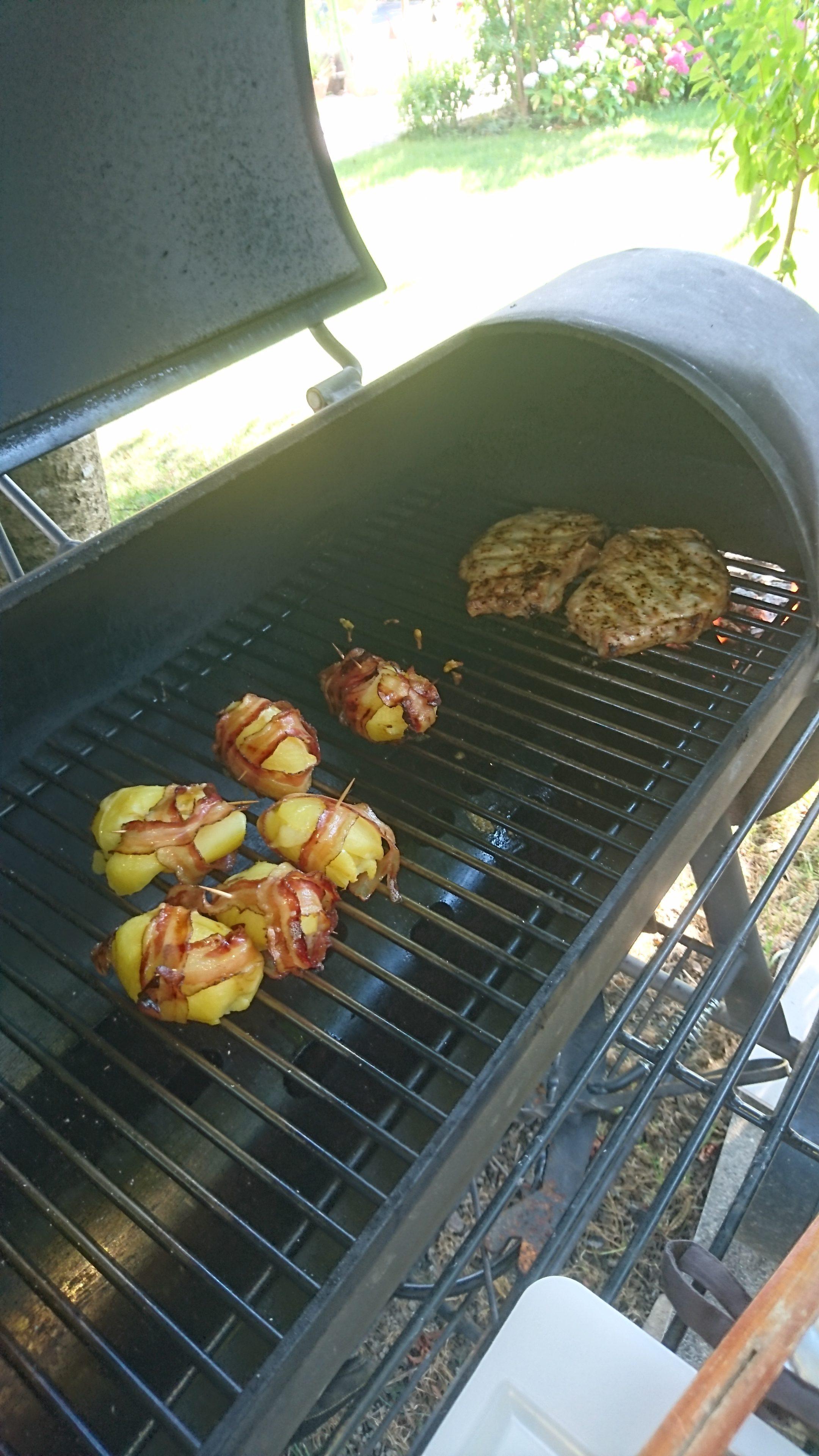 Steak mit Speckkartoffeln