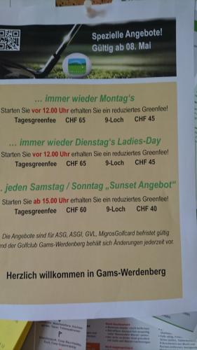 Golfclub Gams Werdenberg 08